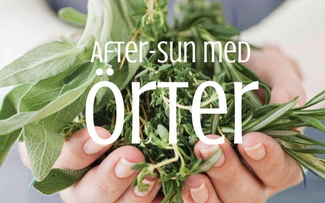 Solskydd och after sun-inpackning med örter