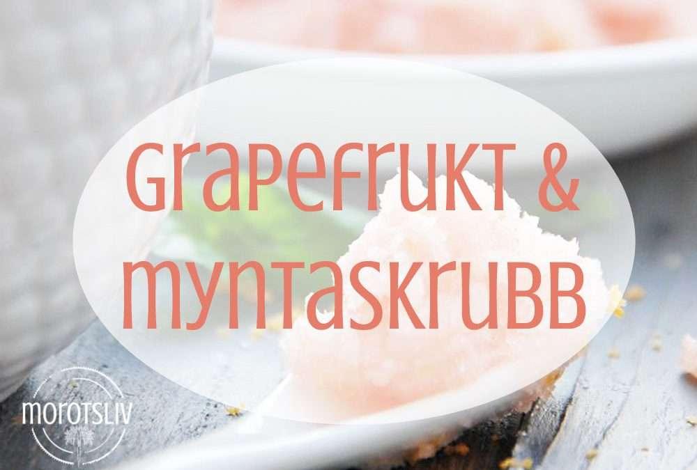 Fluffig grapefruktskrubb med mynta