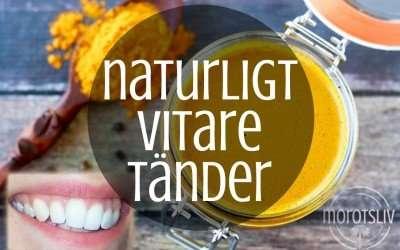 Naturligt vitare tänder med guldtandkräm