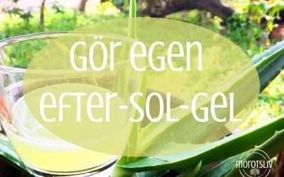 Gör egen efter-sol-gel av dessa tre ingredienser