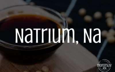 Natrium, Na (natriumklorid/salt)