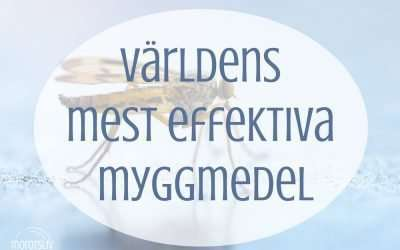 Det mest effektiva, naturliga myggmedlet