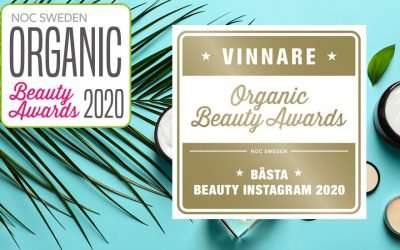 Jag vann Organic Beauty Awards!